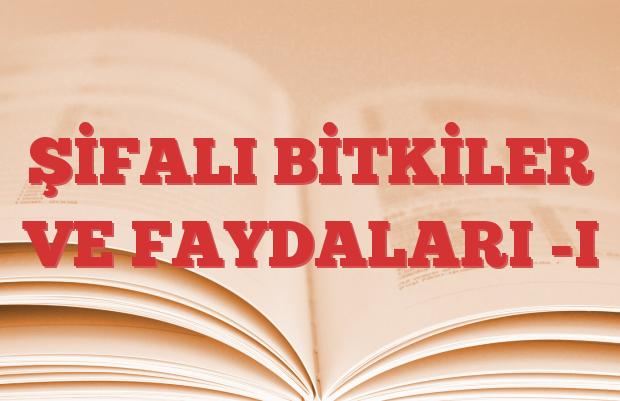 ŞİFALI BİTKİLER VE FAYDALARI -I
