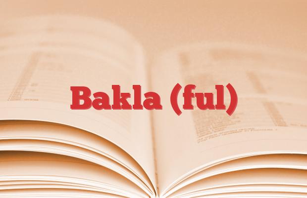 Bakla (ful)