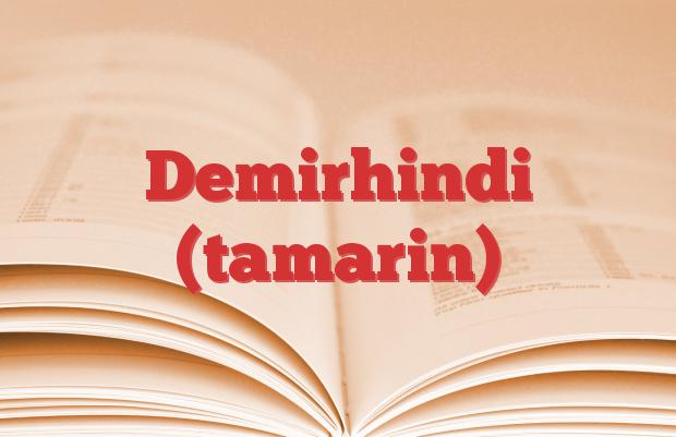 Demirhindi (tamarin)
