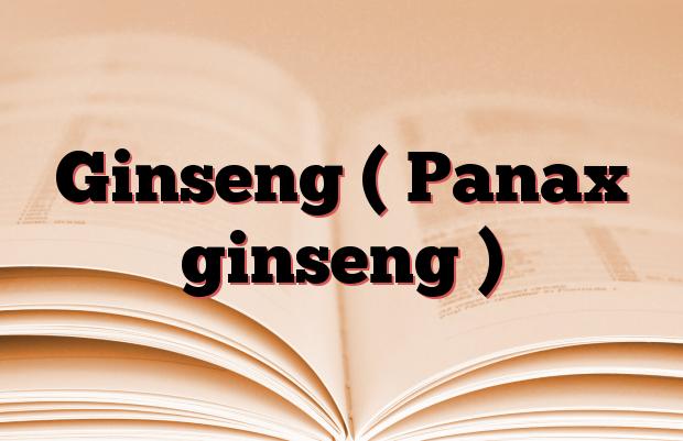 Ginseng ( Panax ginseng )