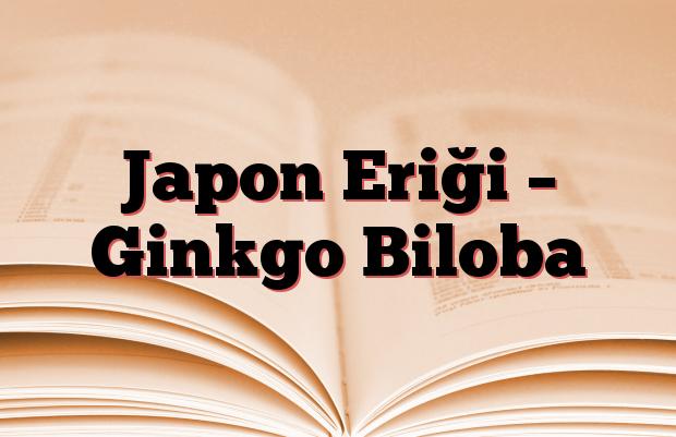 Japon Eriği – Ginkgo Biloba