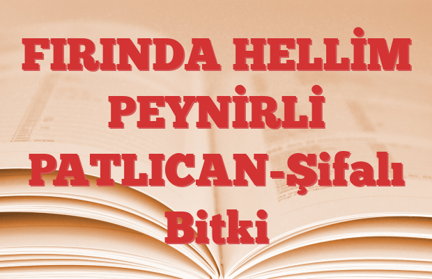 FIRINDA HELLİM PEYNİRLİ PATLICAN-Şifalı Bitki
